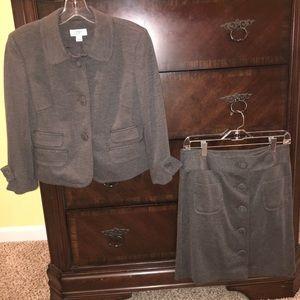 Ann Taylor Loft jacket and skirt combo.